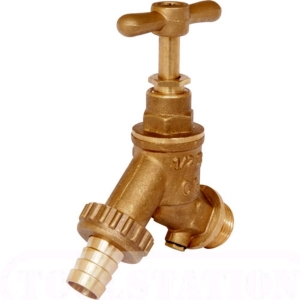 "Brass Hose Union Bibtap 1/2"" With Double Check Valve"