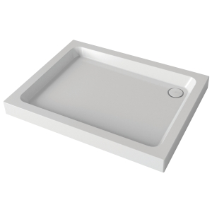 Mira Flight 900x760mm Shower Tray (4 Upstands & Waste)
