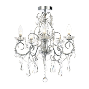 Vela Chrome Bathroom Chandelier - IP44 Rated