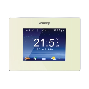 Warmup Underfloor Heating 4iE Smart WiFi Thermostat Bright Porcelin WU4IEBP