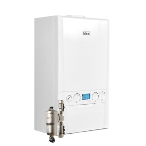 Ideal Logic Max C35 35kW Combi Boiler With Horizontal Flue And System Filter 218874
