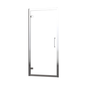 Novellini Kuadra Clear Glass Shower Enclosure Pivot Shower Door 2000mm x 760mm-820mm KUADG76-1K