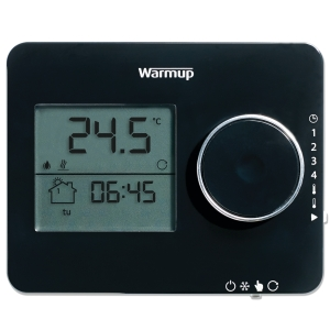 Warmup Underfloor Heating Tempo Programmable Thermostat Piano Black ELTPB