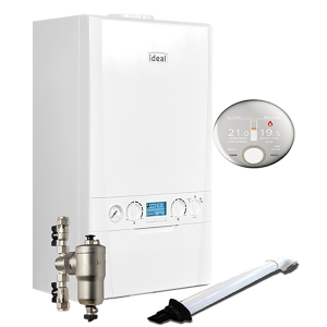Ideal Logic Max C30 30kW Combi Boiler With Horizontal Flue And System Filter And Halo RF Control 218873