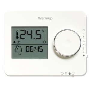 Warmup Underfloor Heating Tempo Programmable Thermostat Porcelain White ELTPW