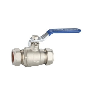 PlumbRight 22mm Lever Ball Valve Cxc Blue Handle