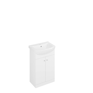 Iflo 550mm White Gloss Vanity Unit and Basin