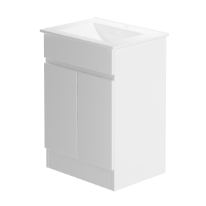 Pure 600 Floorstanding White Gloss Lucido Vanity Unit