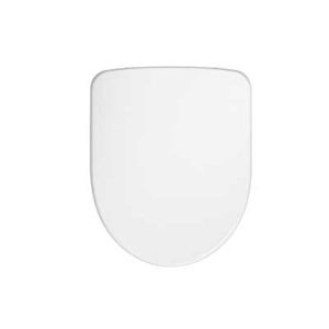 Twyford E100 Standard Toilet Seat & Cover Metal Bottom Hinge E17815WH