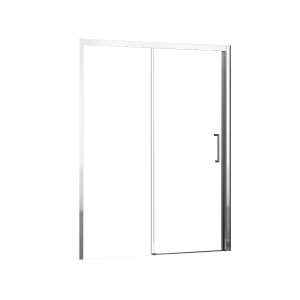 Novellini Kuadra 2 Panel Clear Glass Sliding Shower Door 2000mm x 1380mm-1440mm (Left Hand) KUAD2P138S-1K