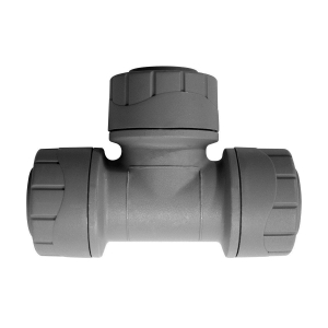 Polypipe PolyPlumb Equal Tee Grey 15mm - PB215