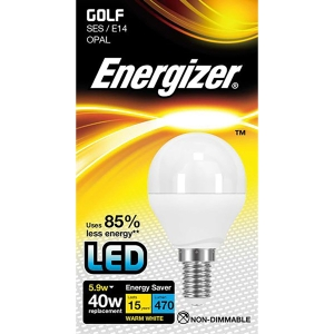 Energizer SES Golf Opal LED Light Bulb - 5.9W