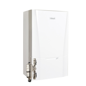 Ideal Vogue Max C32 32kW Combi Boiler With Horizontal Flue And System Filter 218857