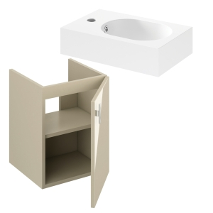 iflo Trapini Beige 400mm Unit with Basin 295942