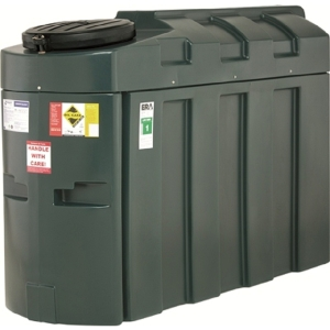 Harlequin 1000ITE High Specification Bunded Slimline Oil Tank Complete & Tankpack