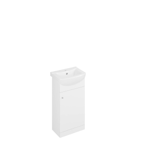 Iflo 450mm White Gloss Vanity Unit and Basin