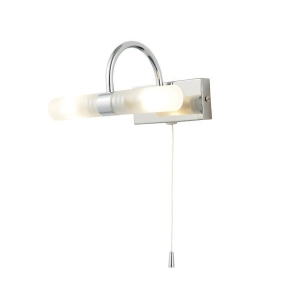 Corvus Chrome Double Bathroom Wall Light