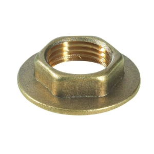 Brass Flanged Backnut 1 1/4 in